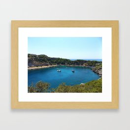 Rhodes Greece Anthony Quinn Bay Framed Art Print