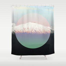 Etna volcano Shower Curtain
