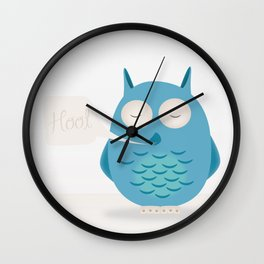 That was a hoot! Wall Clock