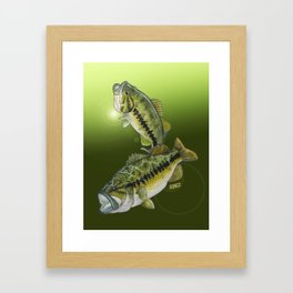 Two Largemouth Bass - Above And Below Framed Art Print