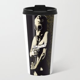 Gas Mask Girl Travel Mug