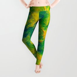 Watercolor Graphical Abstract Art Design Leggings