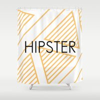 hipster Shower Curtains featuring Hipster by Mr & Mrs Quirynen
