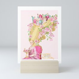 Marie Antoinette, High hair, tea party coiffure Mini Art Print