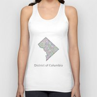 dc Tank Tops featuring DC map by David Zydd