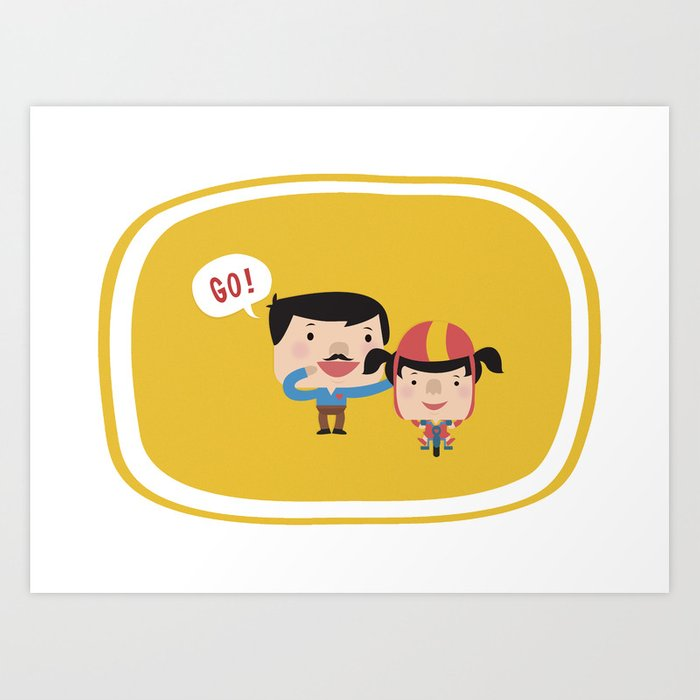 Let's Go! (Yellow Tales Series) Art Print