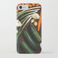 vegetables iPhone & iPod Cases featuring Healthy Vegetables  by BravuraMedia