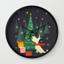 Little White Christmas Westie Wall Clock