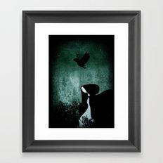 12 crows/ nettles  Framed Art Print