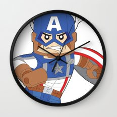 Lego Captain Wall Clock