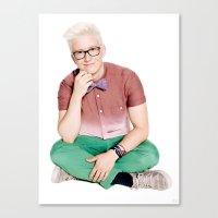 tyler oakley Canvas Prints featuring Tyler Oakley by mikhela