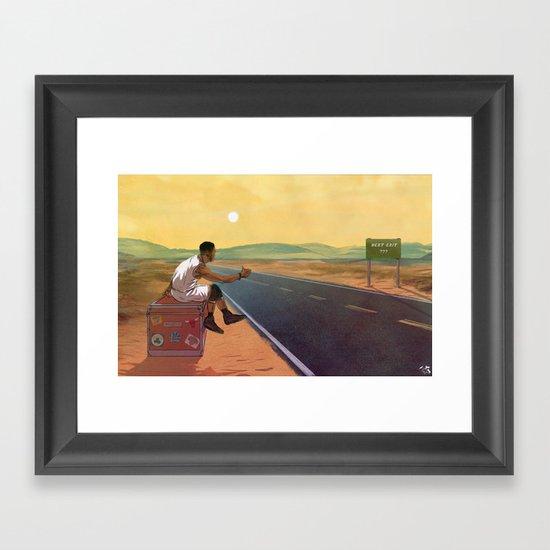 The Free Agent Landscape Framed Art Print