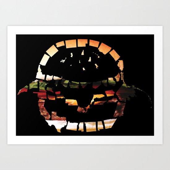 United States of Burger Art Print