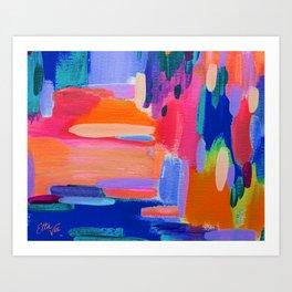 EttaVee Brush Stroke no.104 Art Print