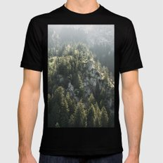 Mountain Lights - Landscape Photography LARGE Black Mens Fitted Tee