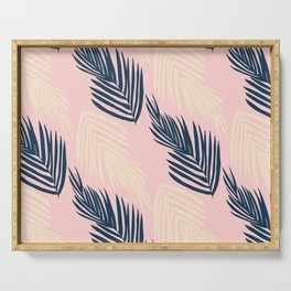 Pink Palms Serving Tray