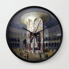Canaletto London Interior of the Rotunda at Ranelagh Wall Clock