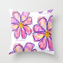 brittmarks/Muster/Blume1 Throw Pillow