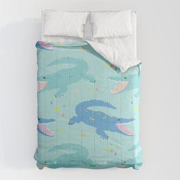 Nile Crocodile Rock Comforters