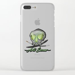 Digital Paint Brand Clear iPhone Case