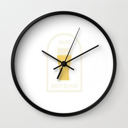 IRISH SHOTGLASS Wall Clock