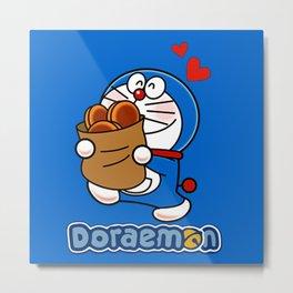 Doraemon love Dorayaki Metal Print