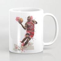 nba Mugs featuring Jordan 23 by Asta Dagmar