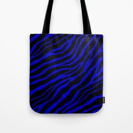 Ripped SpaceTime Stripes - Blue Tote Bag