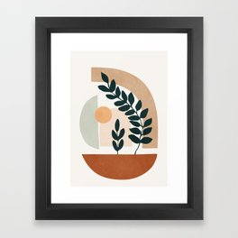 Soft Shapes III Framed Art Print