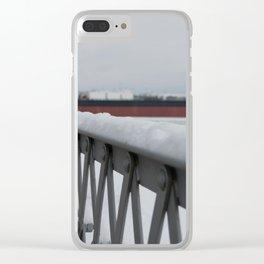 Snow-capped Bridge Clear iPhone Case