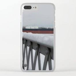 Snow-capped Bridge Clear iPhone Case