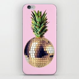 Ananas party (pineapple) Pink version iPhone Skin