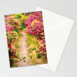 Footpath with azaleas Stationery Cards
