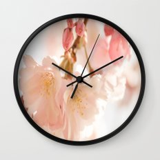 Cherry Bokeh Wall Clock