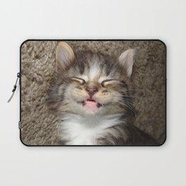 Kitten Smile Laptop Sleeve