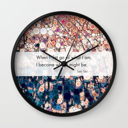 Daily Meditation Quote Wall Clock