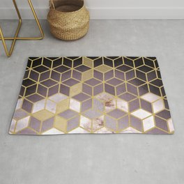 Shades Of Pink Cubes Pattern Rug