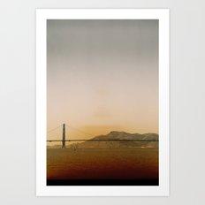 Golden Gate Bridge Pyramid Art Print