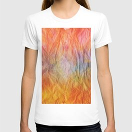 Crumpled Paper Textures Colorful P 68 T-shirt