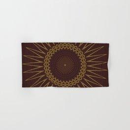 Golden Star Burgundy Wine Mandala Hand & Bath Towel