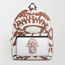 Rose Gold - Hamsa - Hand of Fatima Backpack