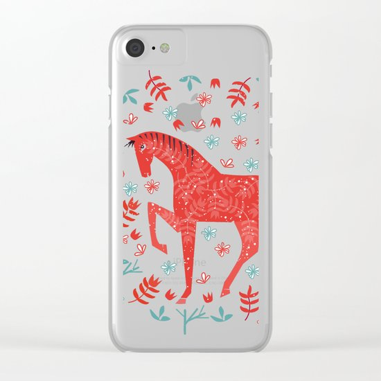 The Red Horse Clear iPhone Case