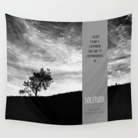 bible Wall Tapestries featuring Henry David Thoreau - Solitude by Schwebewesen • Romina Lutz