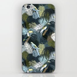Toucan&Parrot (Blue-Green) iPhone Skin
