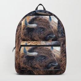 OLena Art Bison the Mighty Beast - Bison das mächtige Tier North American Wildlife Backpack