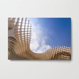 Metropol Parasol wooden structure in Seville, Spain Metal Print