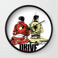 akira Wall Clocks featuring Drive / Akira  by KScully