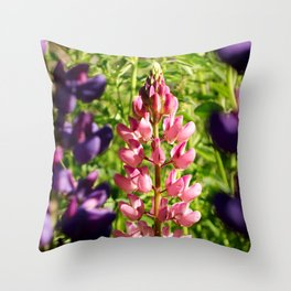 Lupins at Arrowtown Throw Pillow