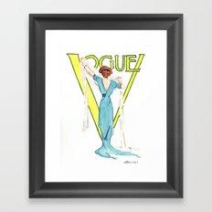 March 1911 Vintage Vogue Magazine Cover. Fashion Illustration Framed Art Print