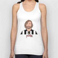 pirlo Tank Tops featuring ANDREA PIRLO - JUVENTUS by THE CHAMPION'S LEAGUE'S CHAMPIONS